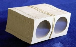 Coin Collectors Supplies: 2x2 Cardboard Coin Holders For Large Dollars