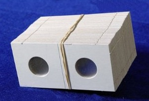Coin Collectors Supplies: 2x2 Cardboard Coin Holders For Nickels