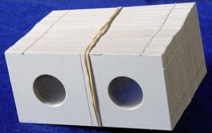 Coin Collectors Supplies: 2x2 Cardboard Coin Holders For Cents