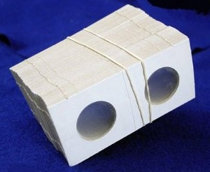 Coin Collectors Supplies: 2x2 Cardboard Coin Holders For Small Dollars