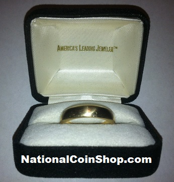 Men's & Women's Wedding Bands / Wedding Rings In Black Jewelry Box For Sale